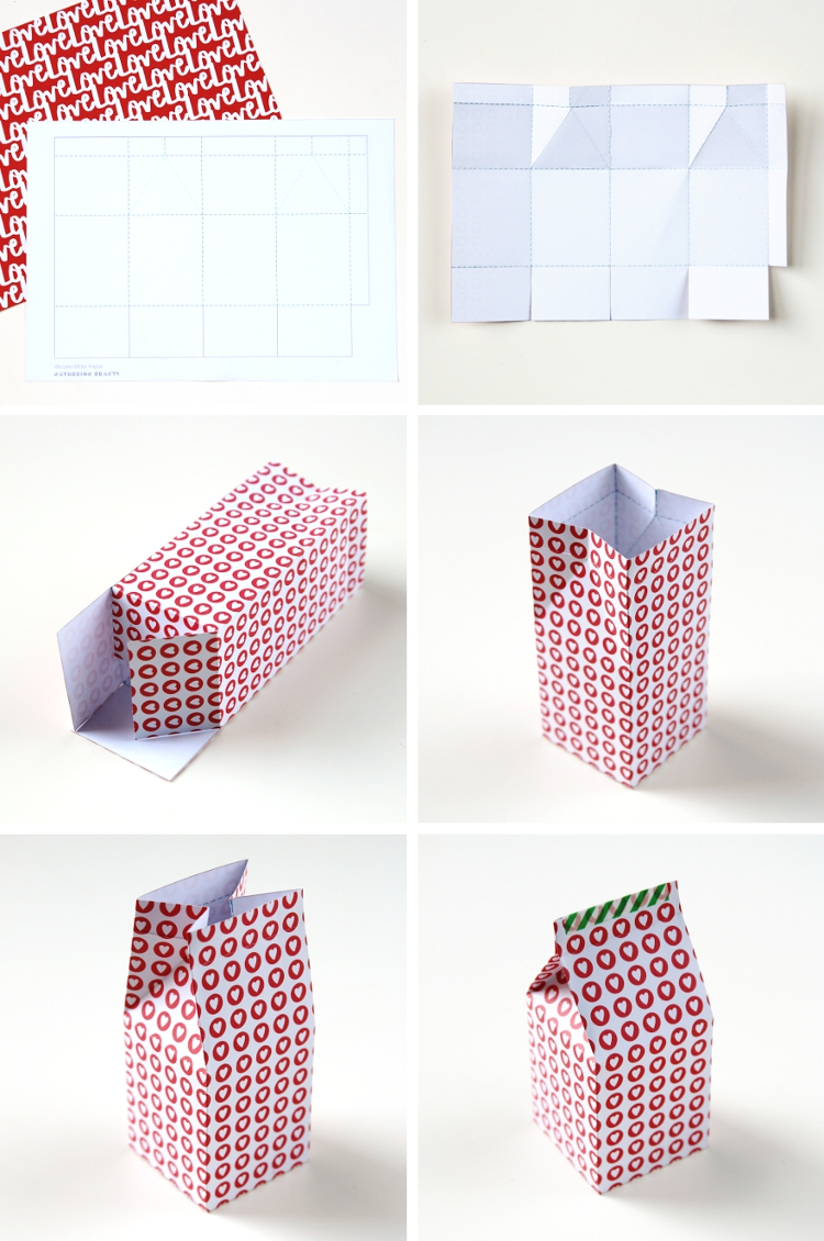 DIY PRINTABLE MILK CARTON GIFT BOXES.