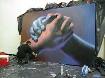 Arte Urbano  manos gigantes