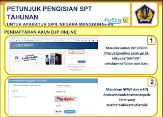 Cara Pengisian Laporan SPT Tahunan Pajak Online e-Filling Untuk PNS/ASN