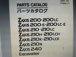 Parts Catalog zaxis 200 200lc 210 210lc 210h 210lch