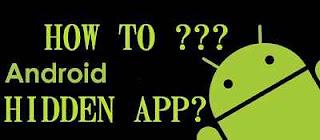 cara sembunyikan aplikasi android