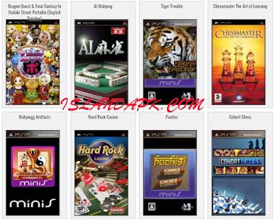 Kumpulan Game PSP Iso Cso Board & Card Lengkap