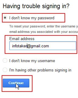 Recovering Gmail Password easily