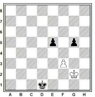 Estudio artístico de ajedrez compuesto por G. Neustadtl (Ceskoslovensky Sach 1890)