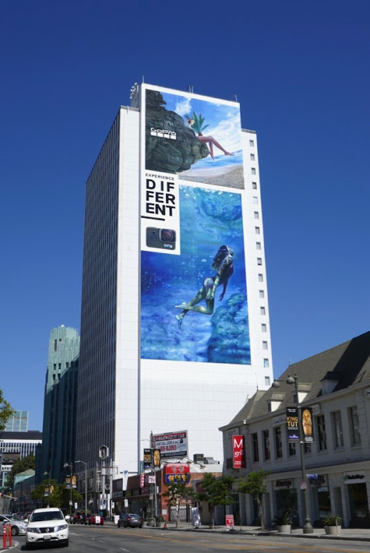 Giant GoPro Experience Different billboard