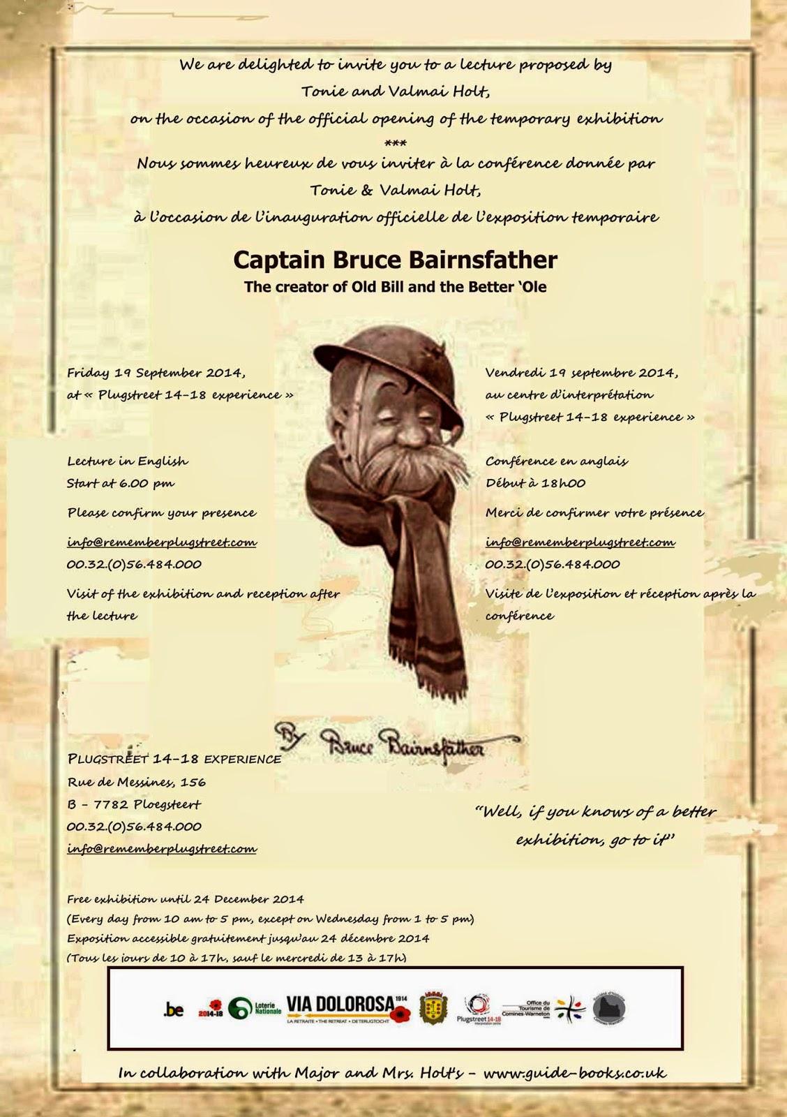ECC Cartoonbooks Club: Captain Bruce Bairnsfather exhibition