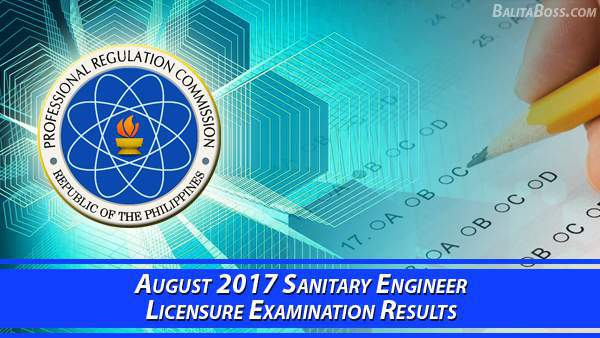Sanitary Engineer August 2017 Board Exam