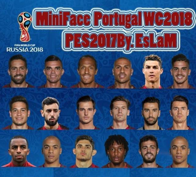 Miniface Portugal World Cup 2018 PES 2017