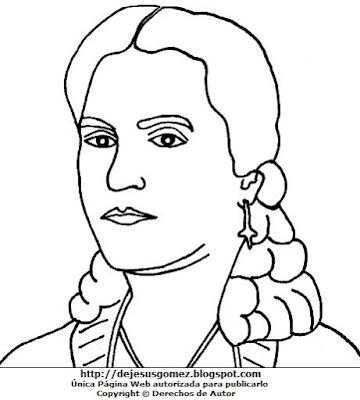Dibujo de Rosa Merino para colorear, pintar e imprimir para niños. Dibujo de Rosa Merino hecho por Jesus Gómez