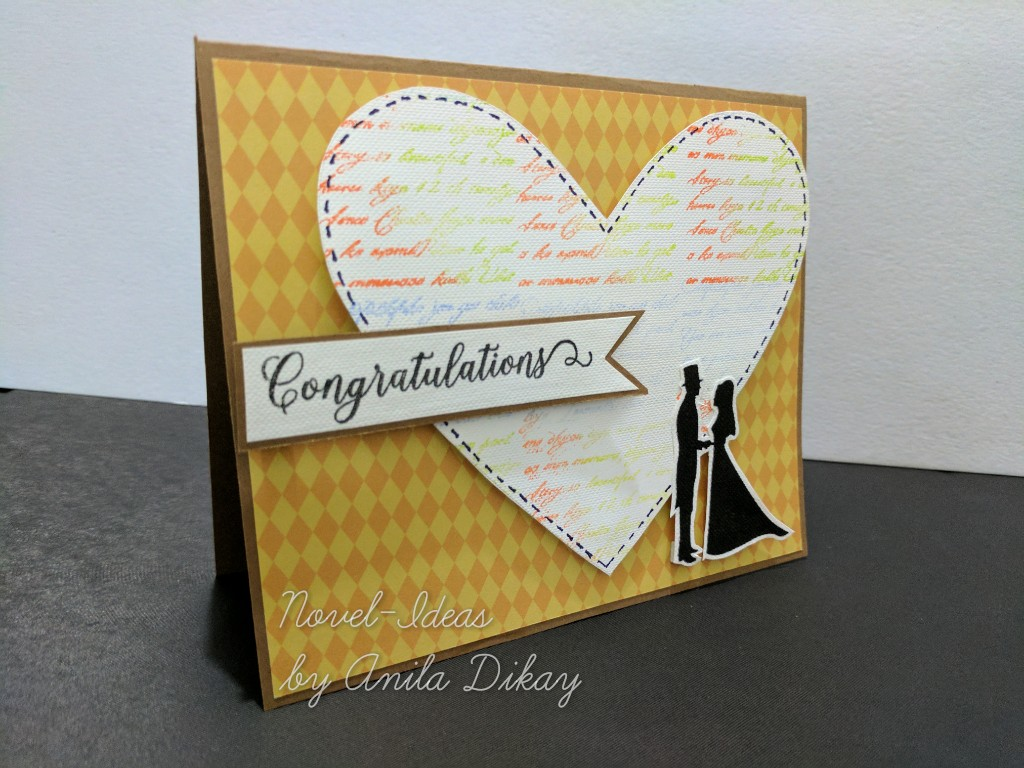 Novel ideas congratulations card a congratulations card for a newly married couple kristyandbryce Image collections
