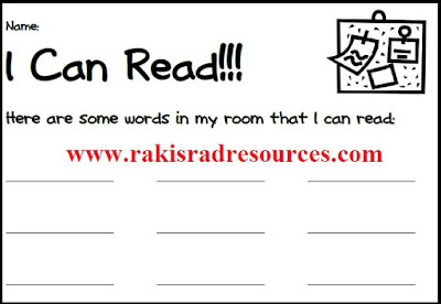 Free read the room recording sheet from Raki's Rad Resources.