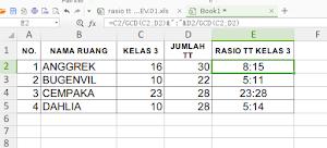 Membuat (Menghitung) Rasio dengan Menggunakan Excel (Spreadsheet)