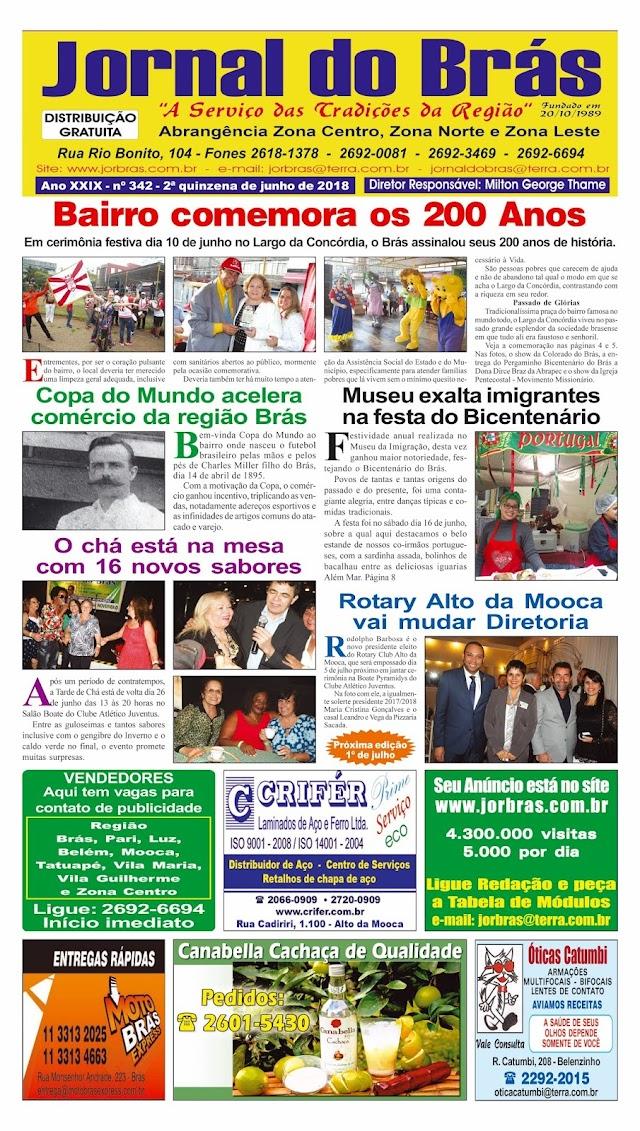 Destaques da Ed. 342 - Jornal do Brás