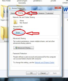 Sharing file menggunakan jaringan Ad Hoc