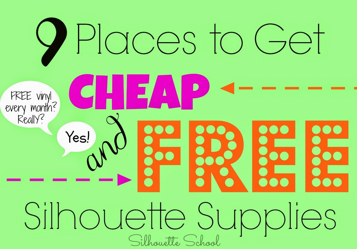 Silhouette supplies, free, cheap