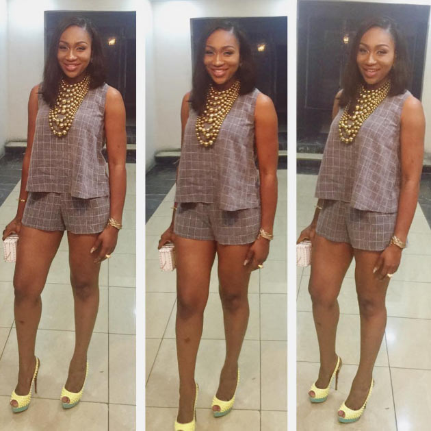 Actress Ebube Nwagbo steps out in two piece outfit