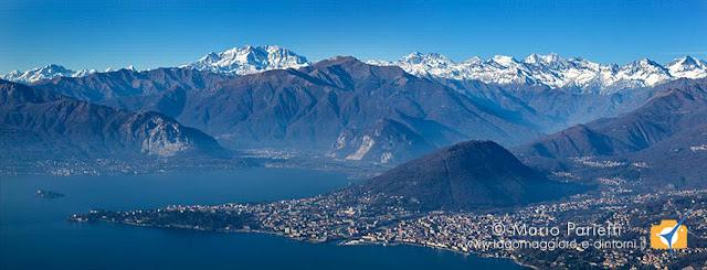 Vista panoramica dai Pizzoni di Laveno