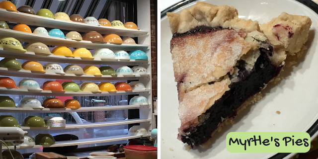 Delicious baked from scratch pies at Myrtle's Pies in Galena, Illinois