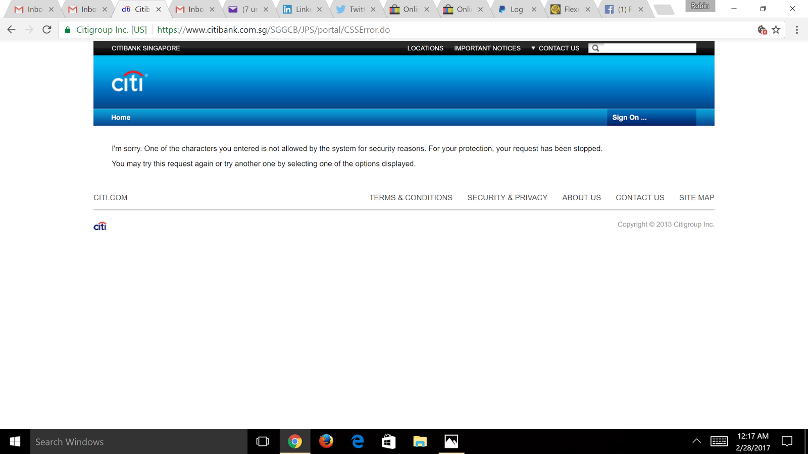 the inconvenience of online banking singapore citibank