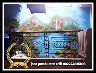 Jasa Pembuatan Relief Tebing Dekorasi Surabaya Harga Murah