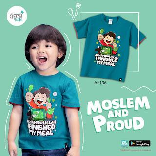 Kaos anak karakter islami