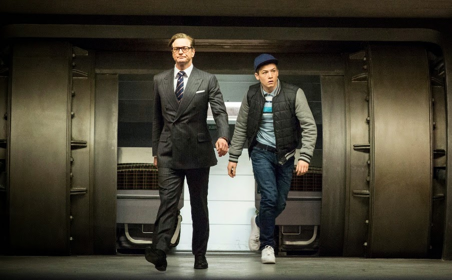 Colin Firth and Taron Egerton - Kingsman: The Secret Service