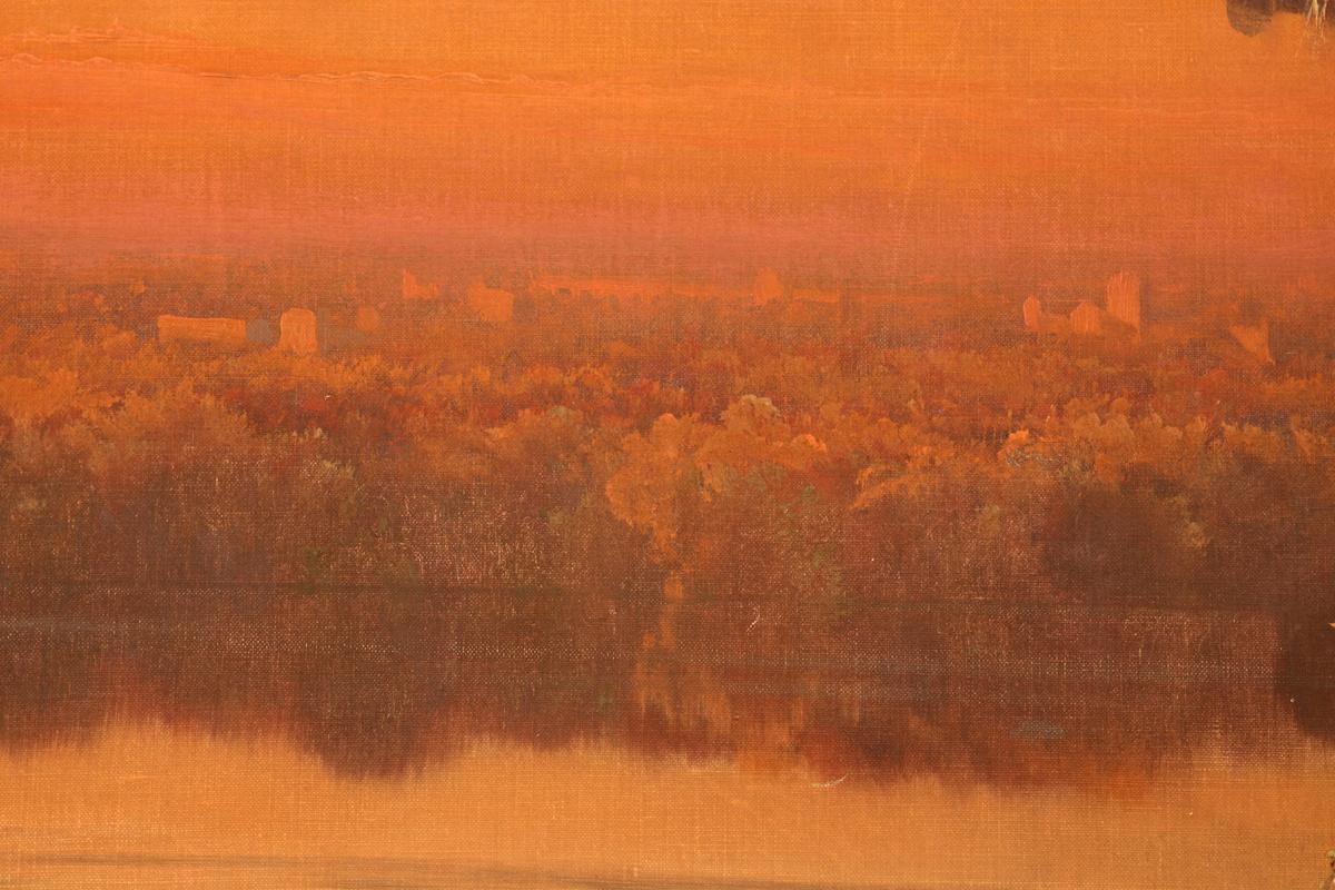 Enrique  Serra  y  Auque  sunset  on  the  pontine  marshes