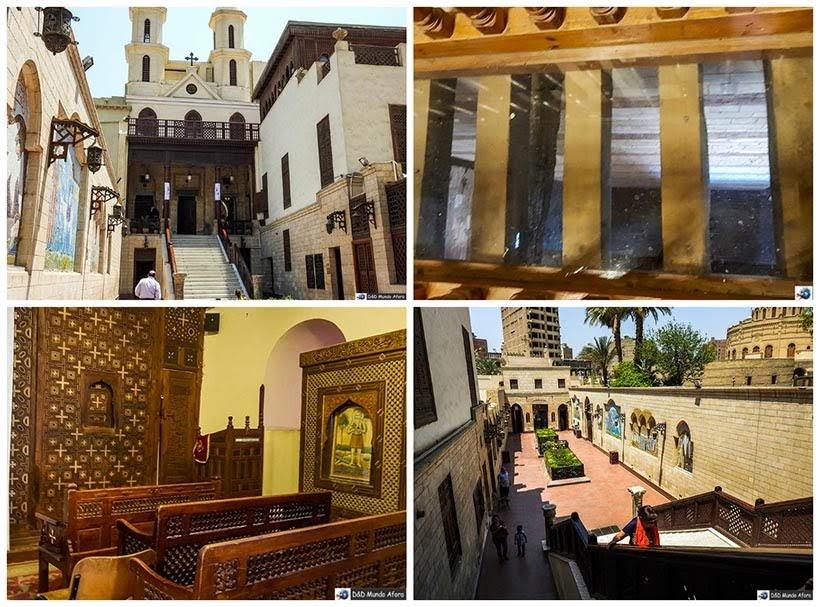 Igreja Suspensa no Bairro Cairo Copta - O que fazer no Cairo, Egito
