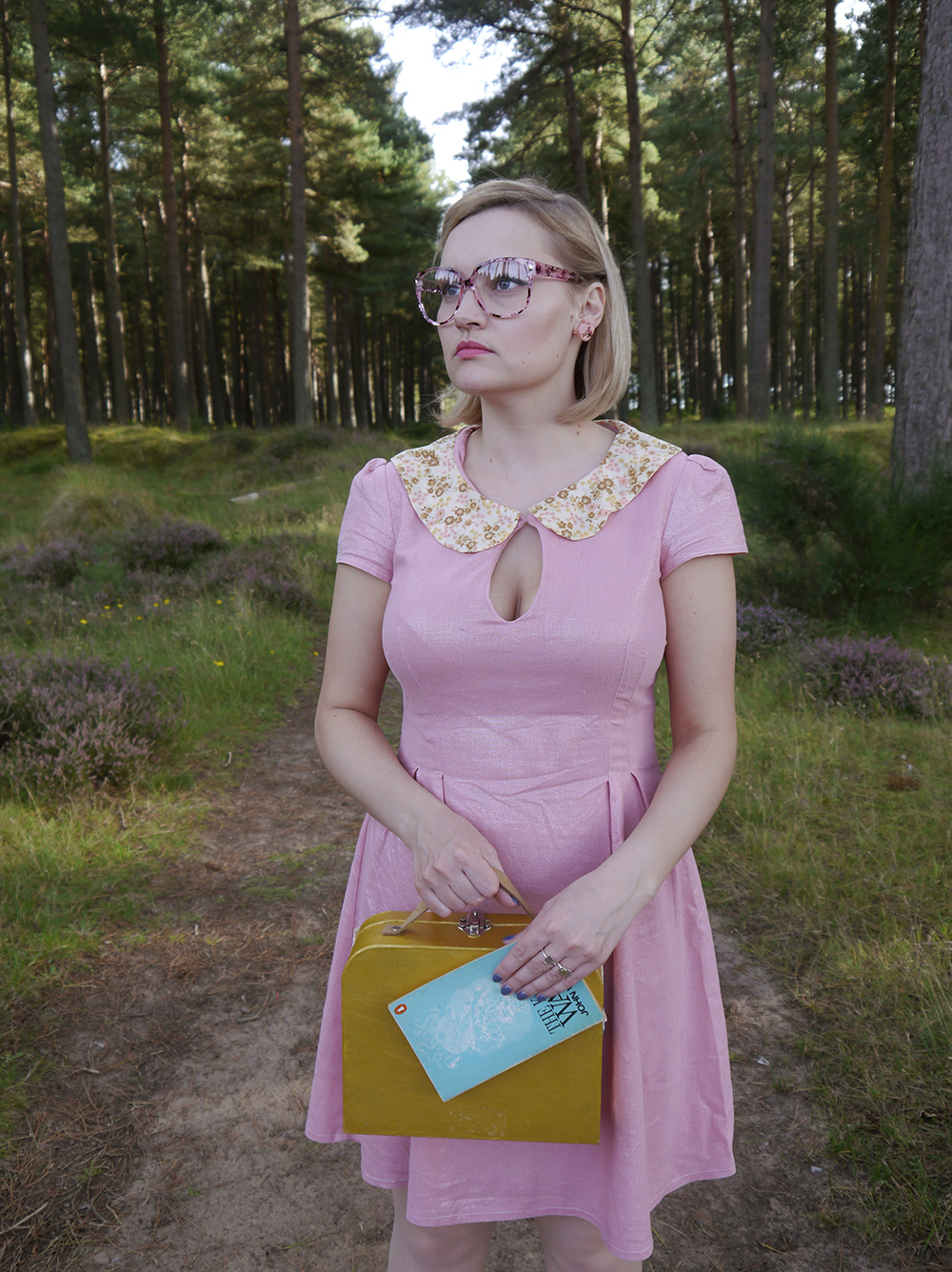 Moonrise Kingdom costume, fun fashion bloggers, colourful fashion, quirky fashion, wearable Halloween outfit, easy Halloween, Suzy Bishop, Suzy Bishop dress, Suzy Bishop costume, Suzy Bishop outfitWes Anderson style inspiration, Tentsmuir National Nature Reserve, Tayport photoshoot,