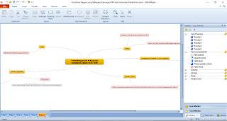 Menggunakan Aplikasi Mindmaple