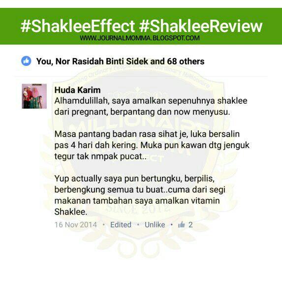 review suplemen shaklee untuk ibu hamil bersalin dan berpantang 1