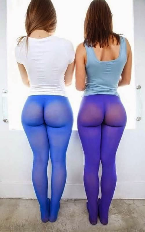 cc803387bda8e Best Ever Yoga Pants Fails. Now Hue See It These yoga pants are a little  too share, but these girls don't mind. At least they're coordinated colors  of blue.