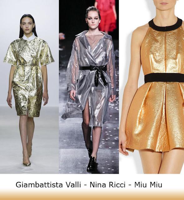 Spring Trend 2013 Giambattista Valli, Nina Ricci, Miu Miu Metallic