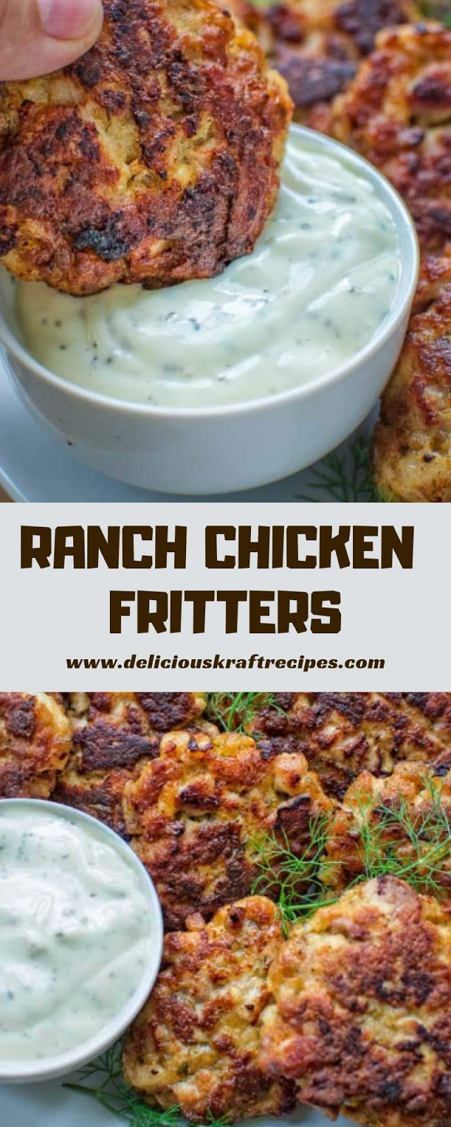 RANCH CHICKEN FRITTERS
