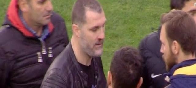 Απίστευτο: Ο προπονητής του ΟΦΗ χτύπησε άνθρωπο του Παναιτωλικού (photo)