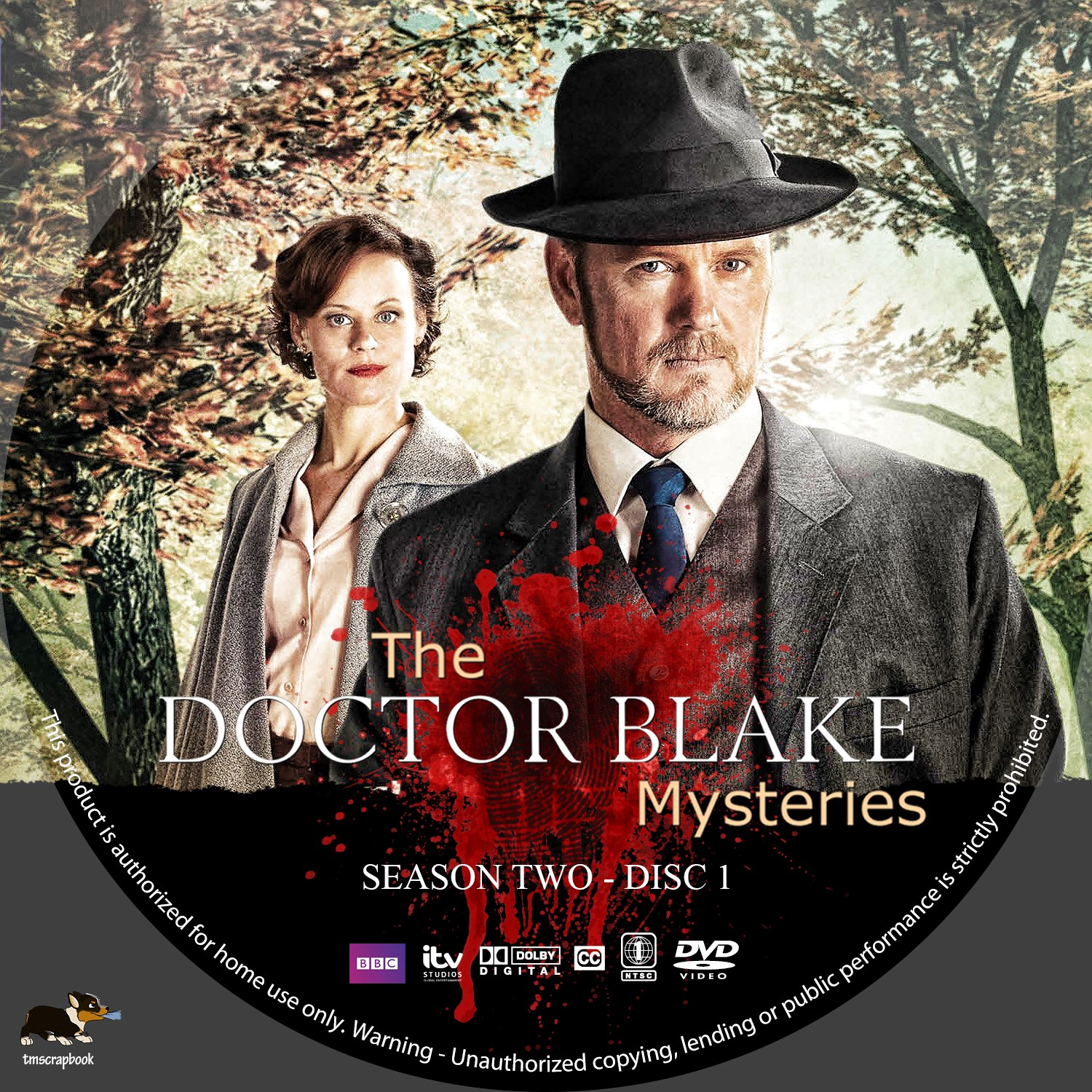 The Doctor Blake Mysteries Season 2 Disc 1-3 DVD Label