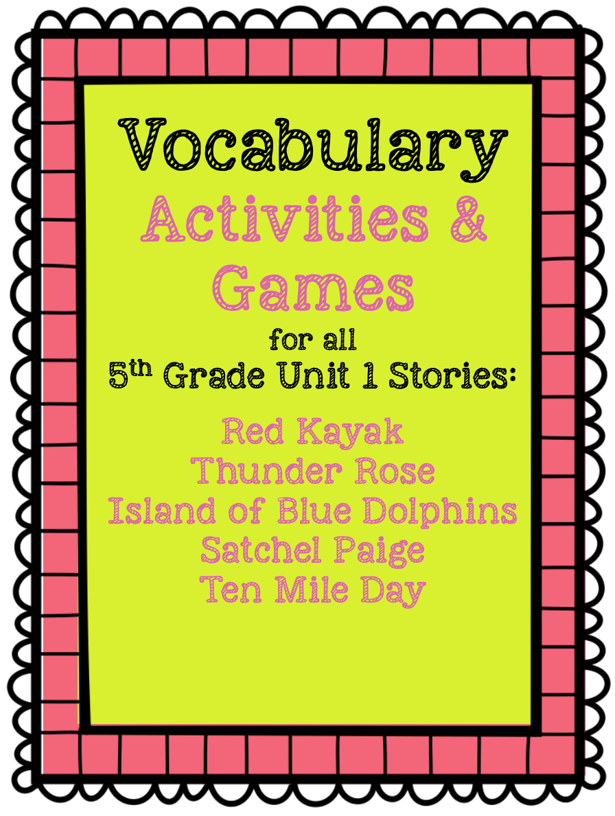Fifth Grade is Fab!: 5th Grade Reading Street Vocabulary Resources [ 1189 x 896 Pixel ]