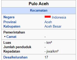 daftar nama desa permukim di kecamatan Pulo Aceh