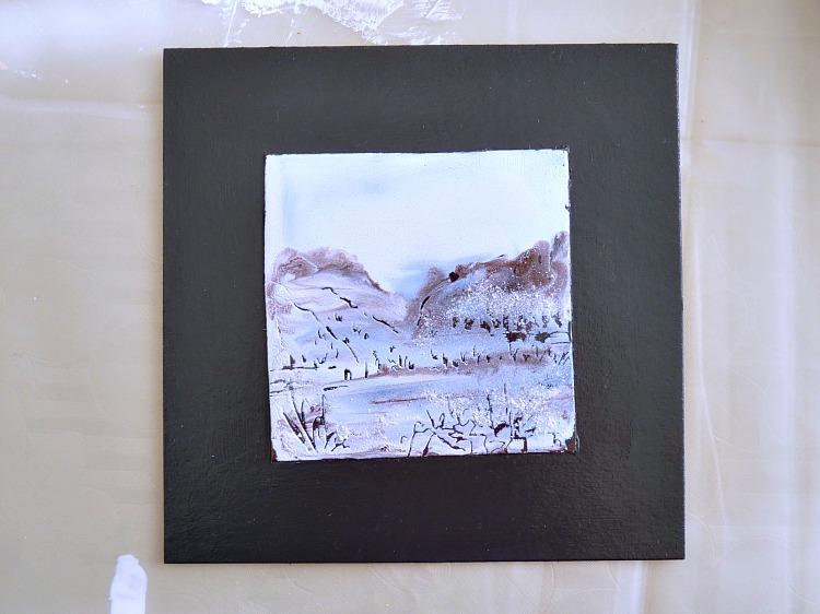 Alternative to custom mat for picture framing