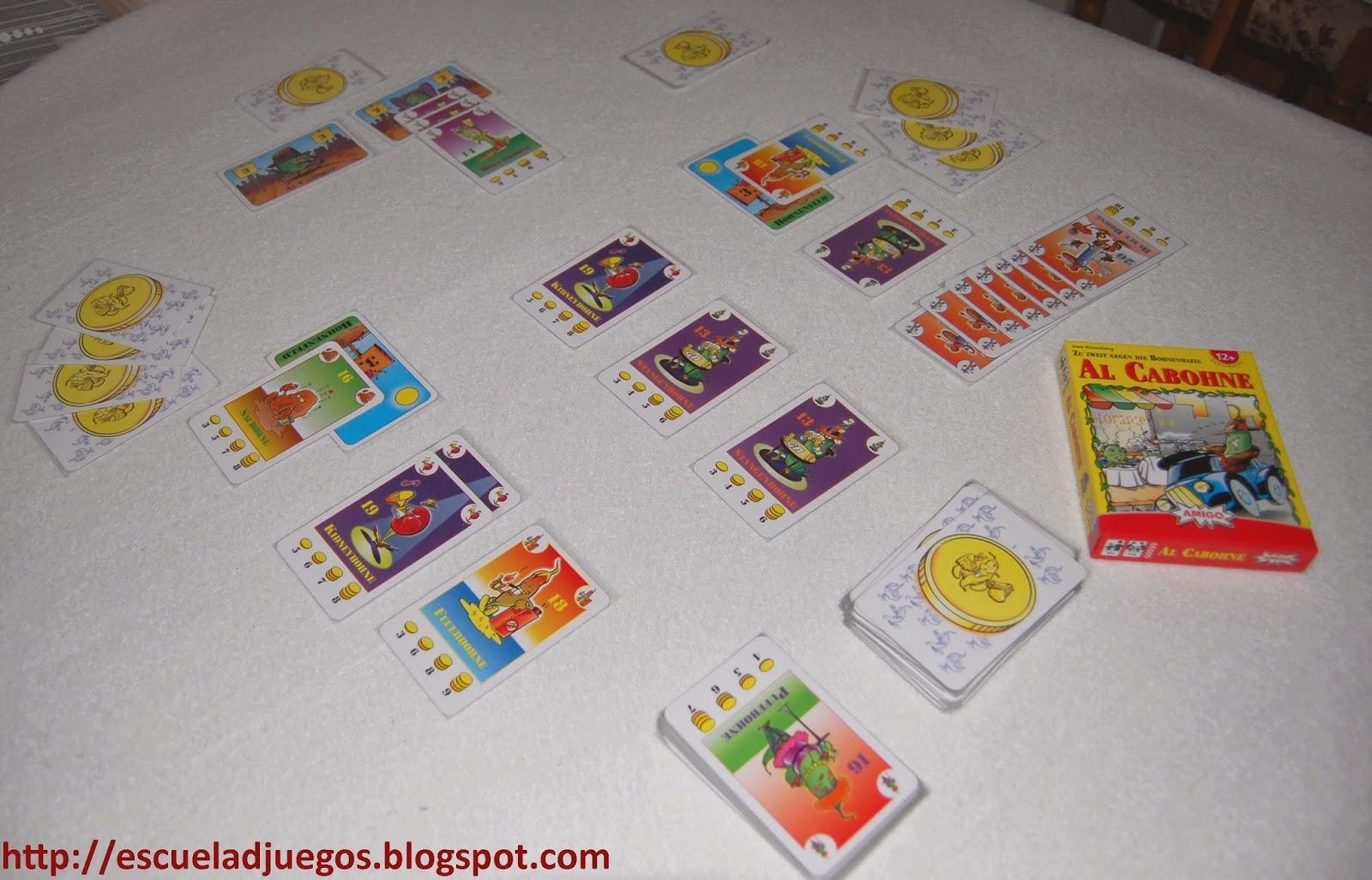 Reseña de Al Cabohne, juego de cartas de Uwe Rosenberg editado por Amigo para 1 o 2 jugadores