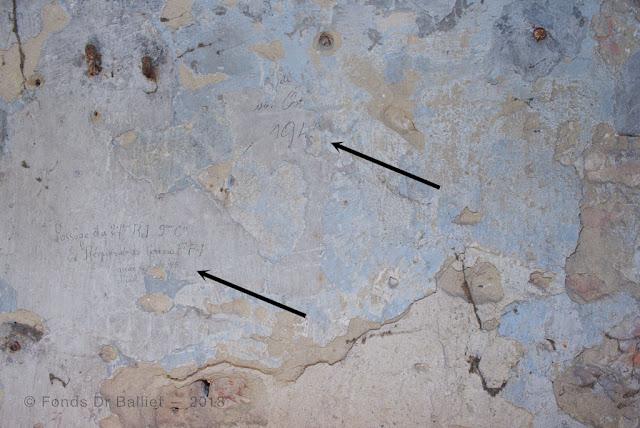 Fort Mortier — « Passage du 27ème R.I. 9ème Cie — Ex Régiment du Morvan F.F.I. arrivé le ?/?/45 départ ??? »