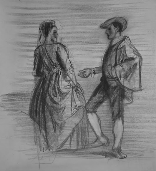 a study of Watteau's Embarassing Proposal