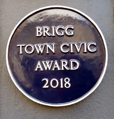 The Brigg Town Civic Award 2018 now on display at the Lord Nelson Hotel in the Market Place