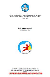 KI dan KD Matematika Jenjang SD/MI Kelas 6 Kurikulum 2013 Revisi 2018