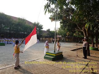 Satuan Lalu Lintas Polres Indramayu Mengadakan Program Police Go To School