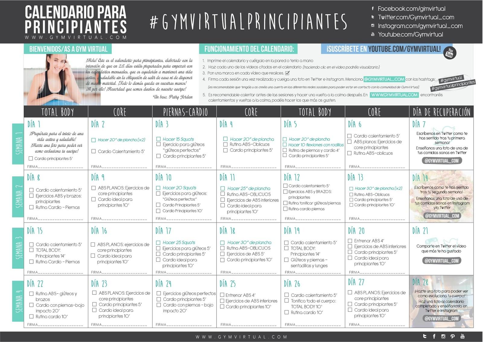 Calendario Septiembre Gymvirtual.El Blog De Lucia Gym Virtual