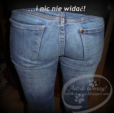 Adzik tworzy - spodnie przetarte w kroku jak naprawić DIY