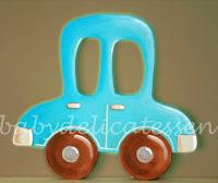 silueta de madera infantil cochecito azul babydelicatessen