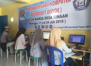 ITP Tarjun Berikan Pelatihan Komputer Kepada Warga Kelumpang Hilir