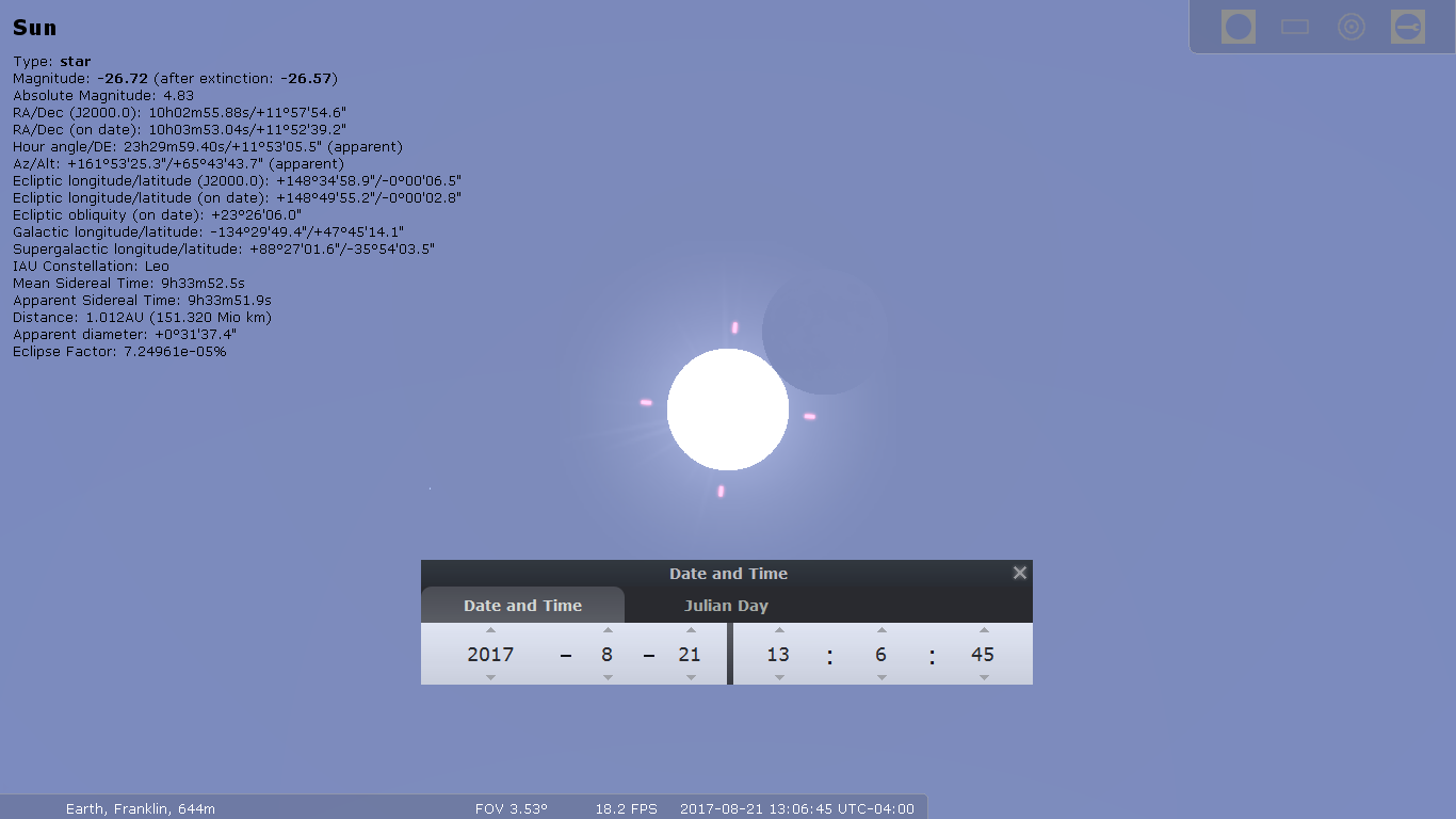 C1 Partial Eclipse Begins